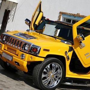 Hinckley Yellow Hummer Car Hire
